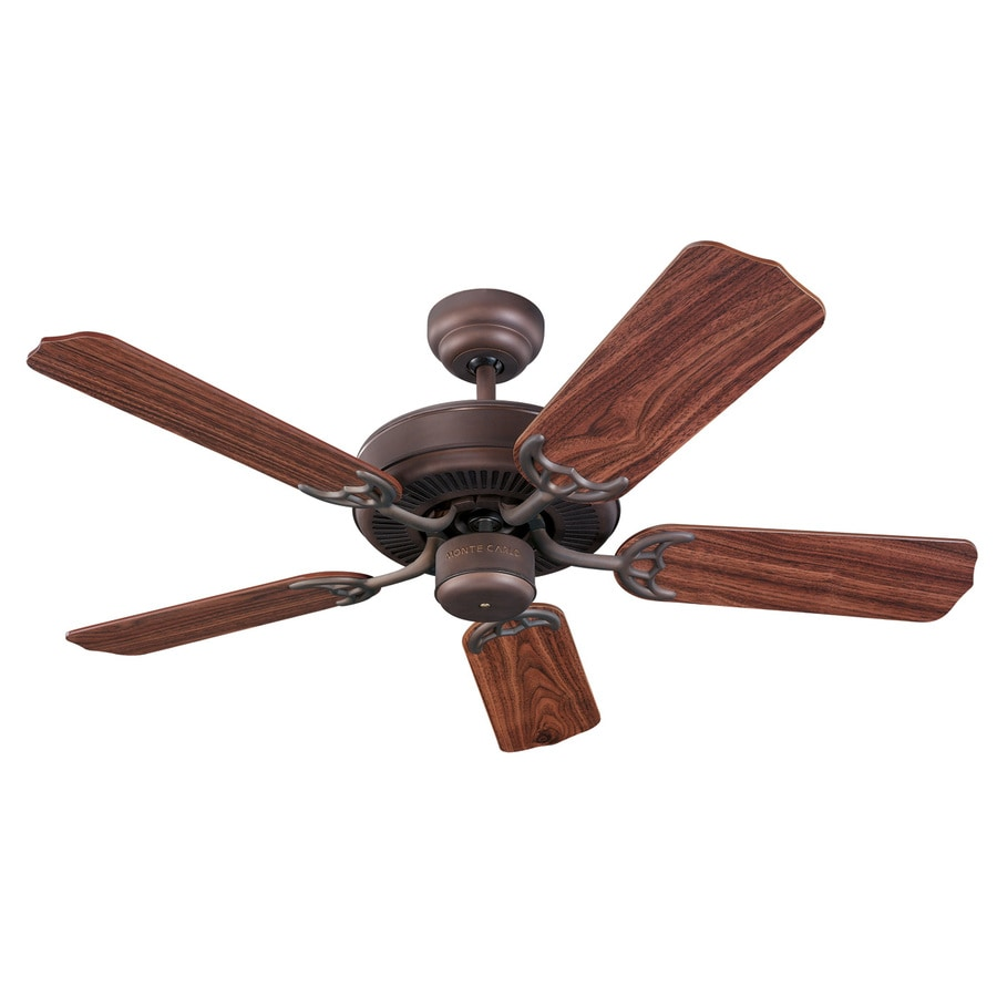 Monte Carlo Fan Company Homeowners 42-in Roman Bronze Downrod or Close Mount Ceiling Fan Light Kit Adaptable (5-Blade)