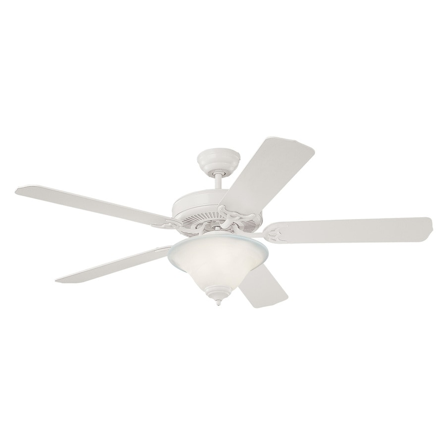 Monte Carlo Fan Company Homeowners 52-in White Downrod or Close Mount Ceiling Fan with Light Kit (5-Blade)