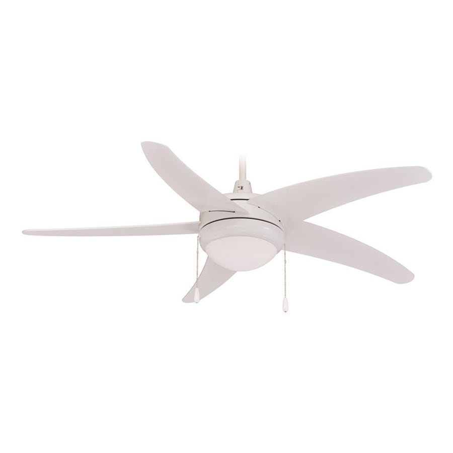Royal Pacific Mirage I 50-in White Downrod Mount Ceiling Fan with Light Kit with Remote Control (5-Blade) ENERGY STAR
