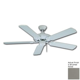 Shop royal star ceiling fans at lowes royal pacific royal star 52 in brushed nickel indoor downrod mount ceiling fan energy star aloadofball Choice Image
