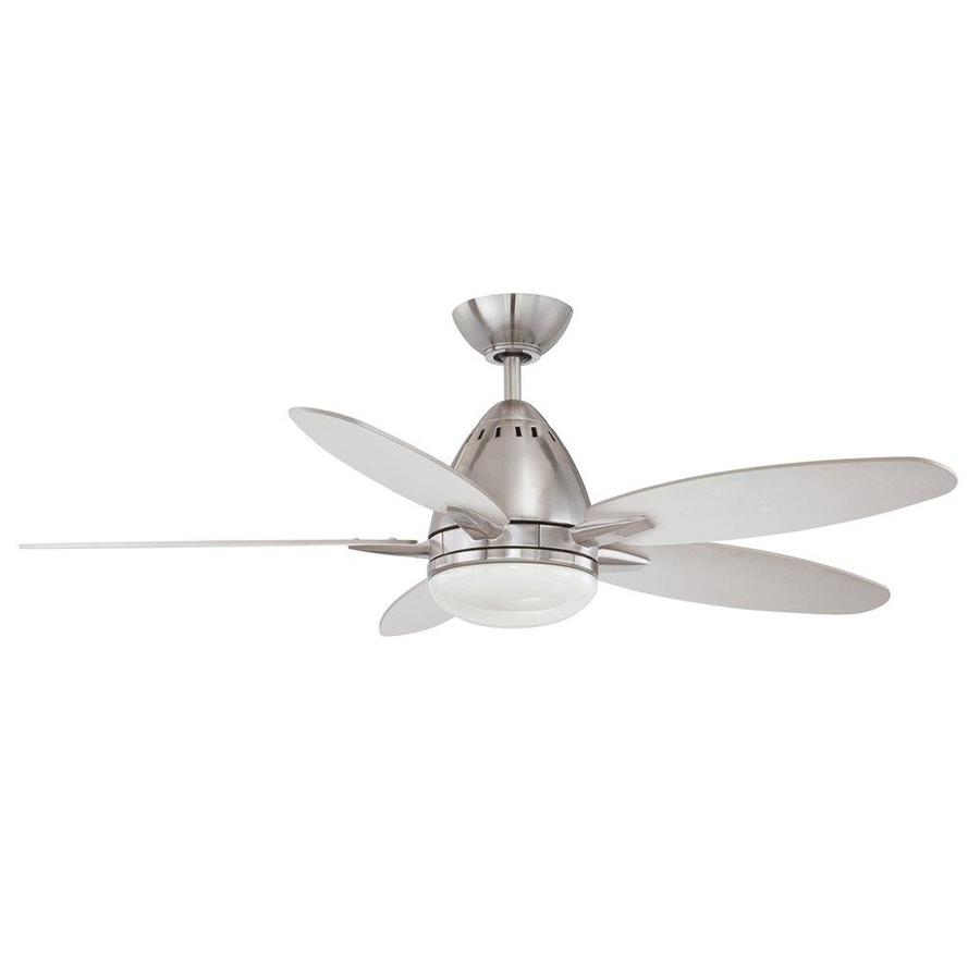 Kendal Lighting 44-in Satin Nickel Downrod Mount Ceiling Fan with Light Kit with Remote Control (5-Blade)