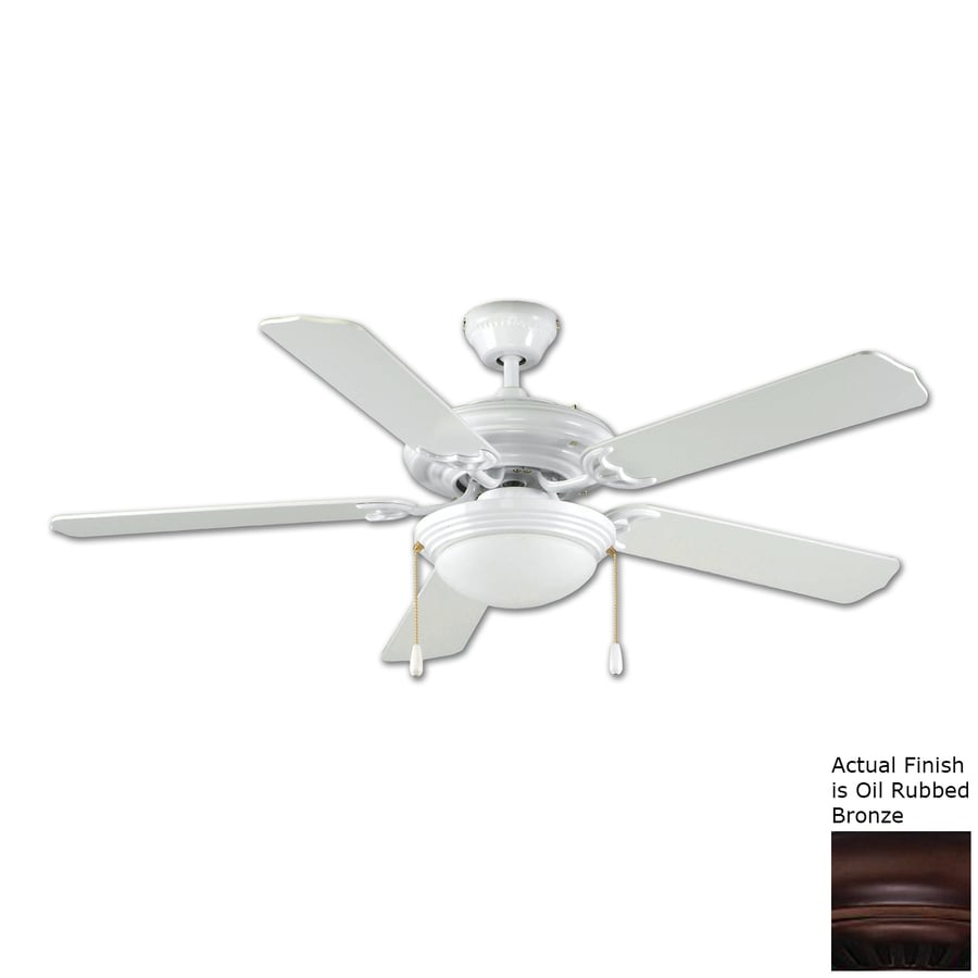 Royal Pacific Royal Star 52-in Oil Rubbed Bronze Flush Mount Ceiling Fan Included (5-Blade) ENERGY STAR