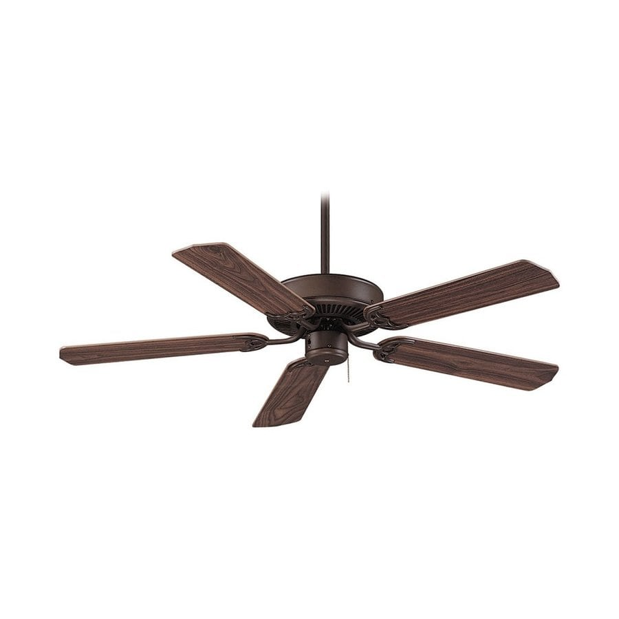 Royal Pacific Royal Star 52-in Oil Rubbed Bronze Flush Mount Ceiling Fan Light Kit Adaptable (5-Blade) ENERGY STAR