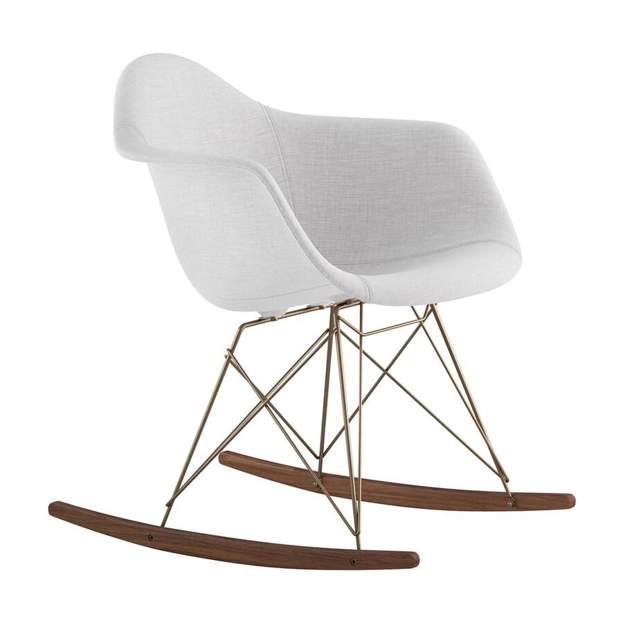 NyeKoncept Midcentury Glacier/Walnut/Brushed Brass Polyester Rocking Chair