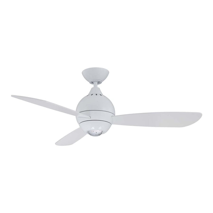 Kendal Lighting Sphere 44 In White Led Indoor Downrod Mount Ceiling Fan With Light Kit