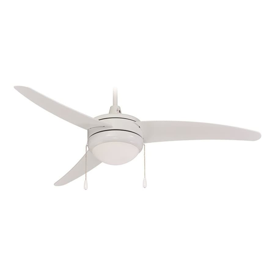 Royal Pacific Contempo I 50-in White Downrod Mount Ceiling Fan with Light Kit (3-Blade)