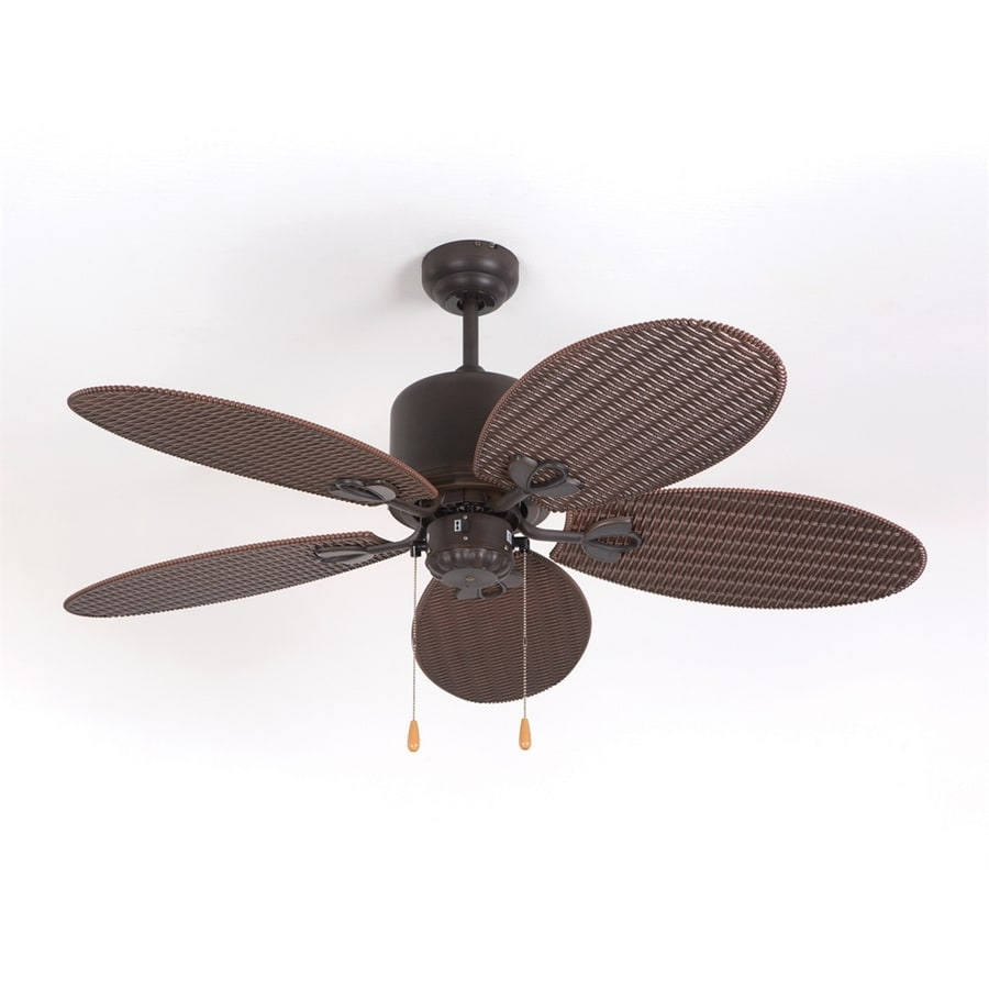 Yosemite Home Decor 48-in Oil Rubbed Bronze Indoor/Outdoor Downrod Mount Ceiling Fan (5-Blade)