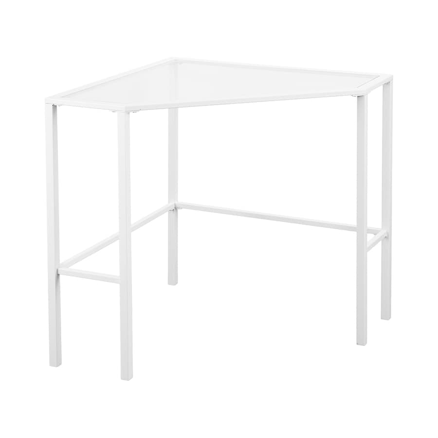 Boston Loft Furnishings Keyley Contemporary Clear Glass Corner Desk