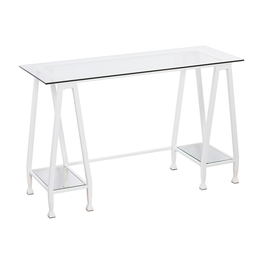 Boston Loft Furnishings Lea Contemporary Clear Glass Writing Desk