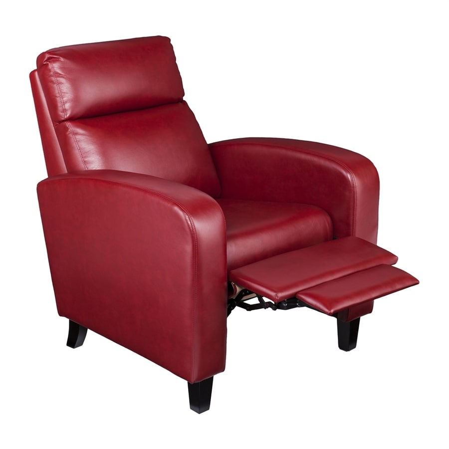 Boston Loft Furnishings Bickone Vibrant Woman Red Faux Leather Recliner