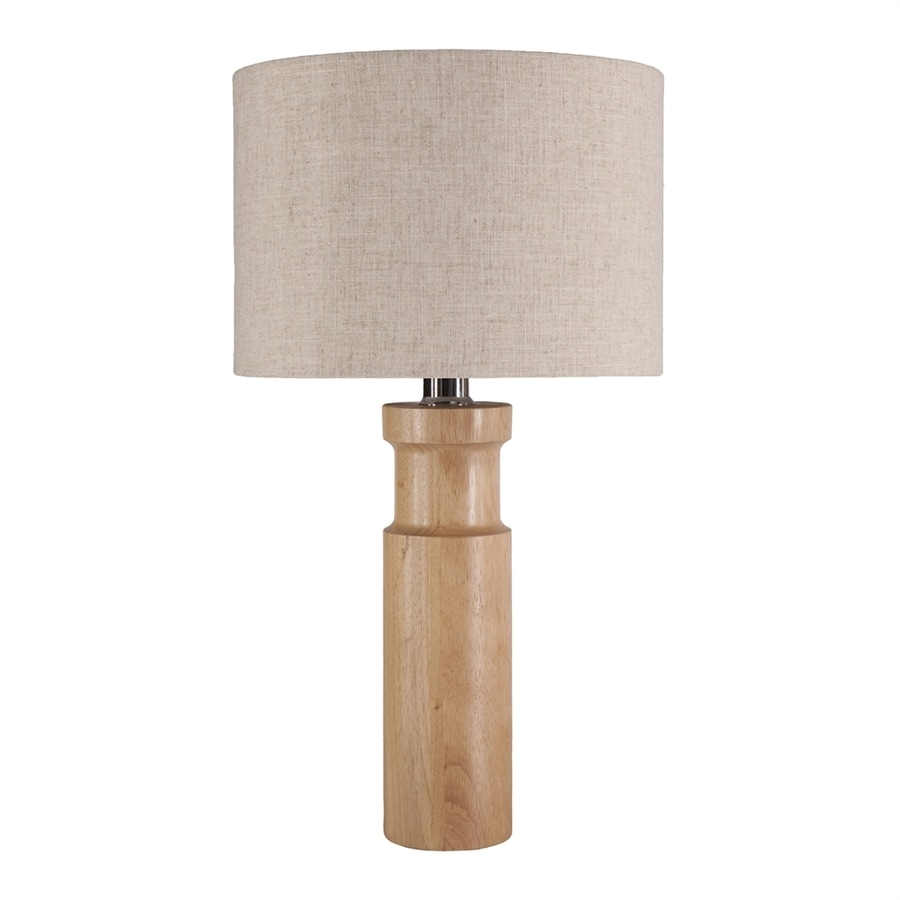 Boston Loft Furnishings Lacey 26.5-in Bamboo In-Line Table Lamp with Fabric Shade
