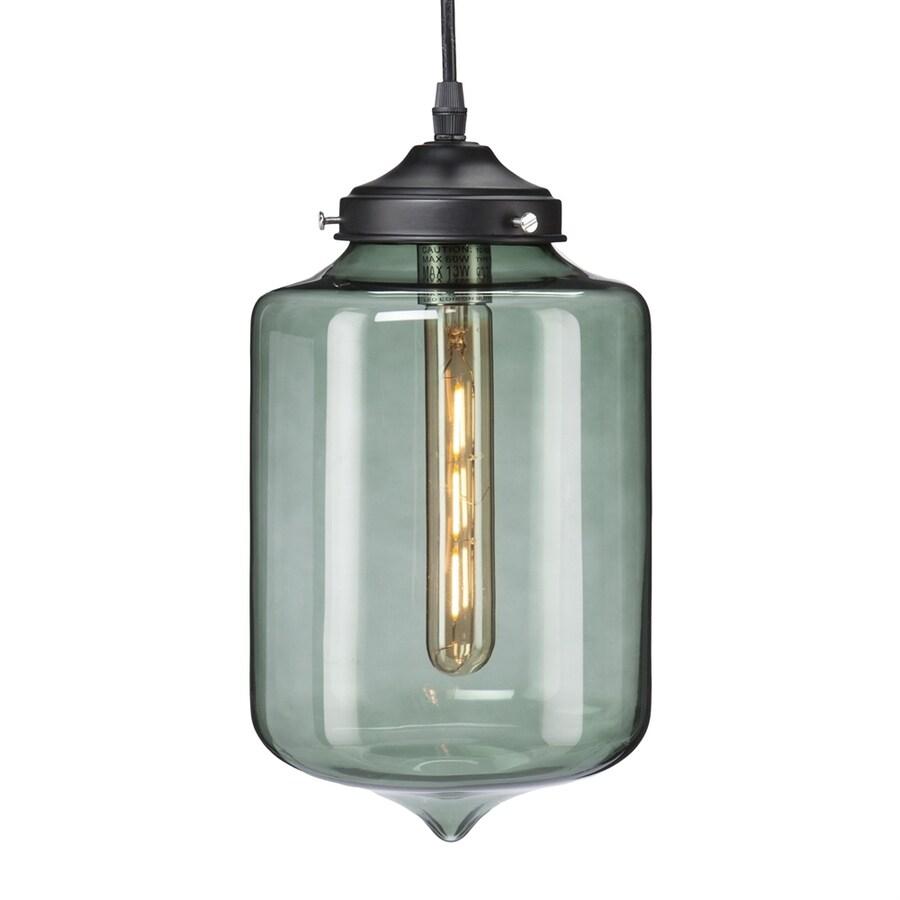 Boston Loft Furnishings Nernst 6.5-in Black Mini Tinted Glass Cylinder Pendant