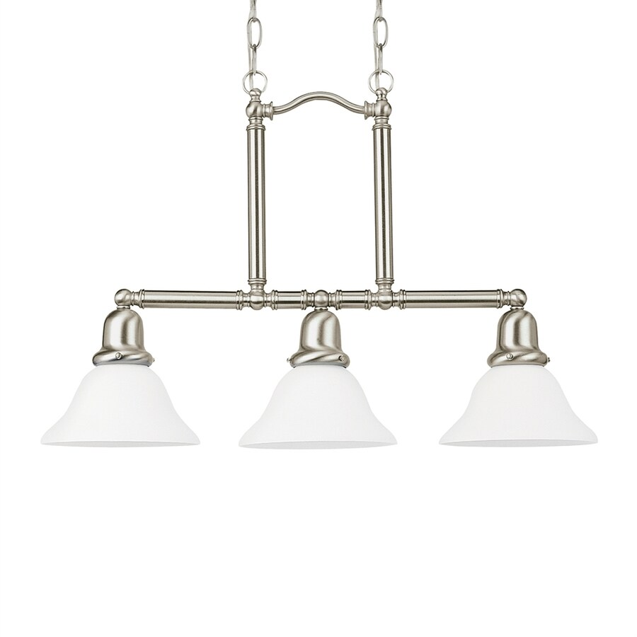 Sea Gull Lighting Sussex 26-in W 3-Light Brushed Nickel