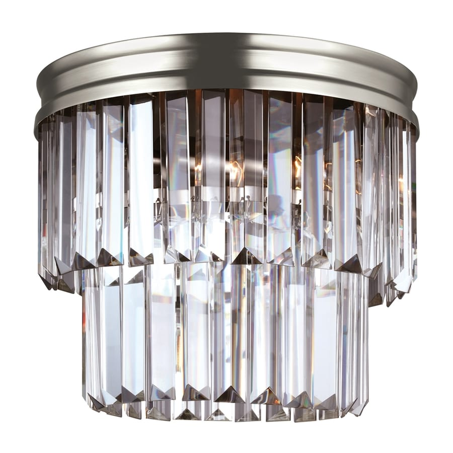 Sea Gull Lighting Carondelet 10.625-in W Antique brushed nickel Flush Mount Light ENERGY STAR