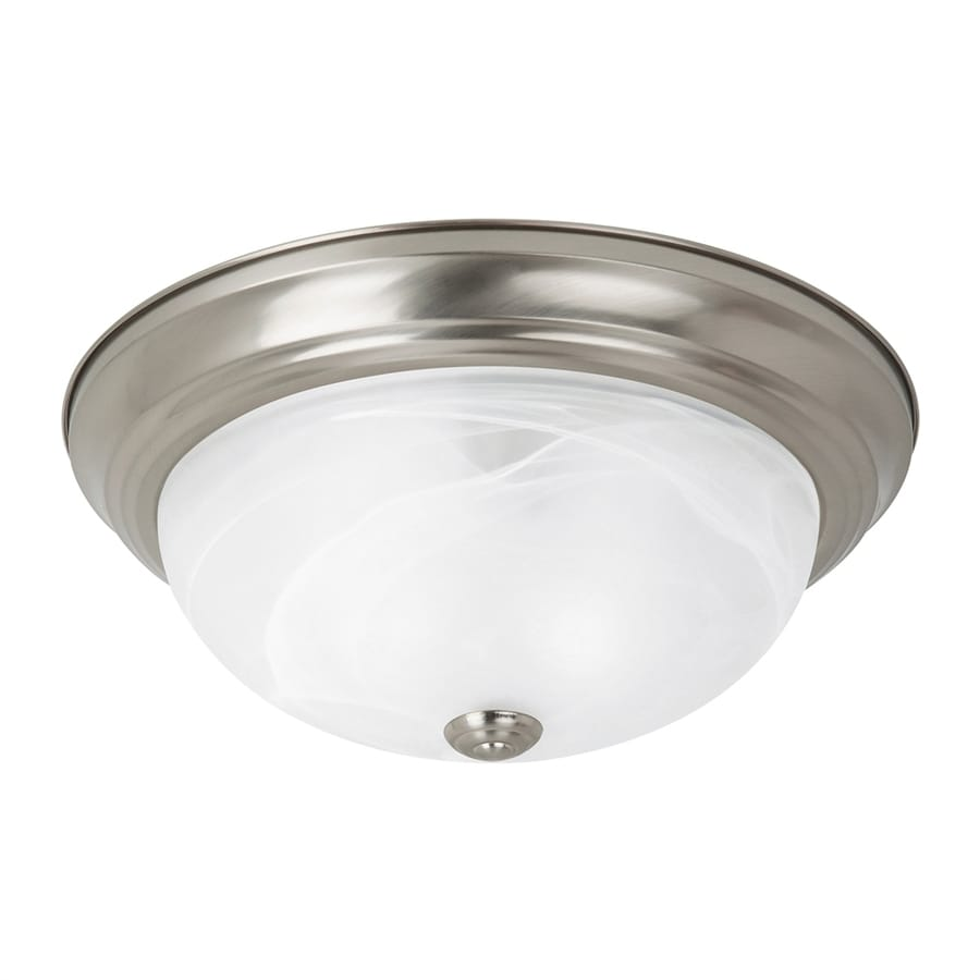 Sea Gull Lighting Windgate Frosted Glass Flush Mount Fluorescent Light ENERGY STAR