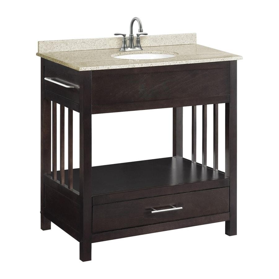 Design House Ventura Freestanding Espresso Bathroom Vanity (Actual: 30 In X  21