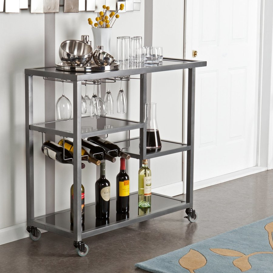 Holly & Martin Weph 16-in x 40-in Gunmetal Gray Not Divided Metal Rectangle Serving Caddy