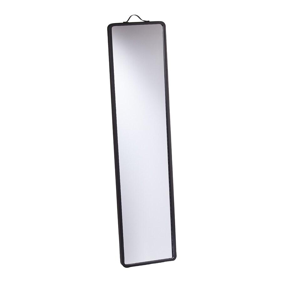 Shop holly martin lawson 17 in x 70 in matte black for Black framed floor mirror