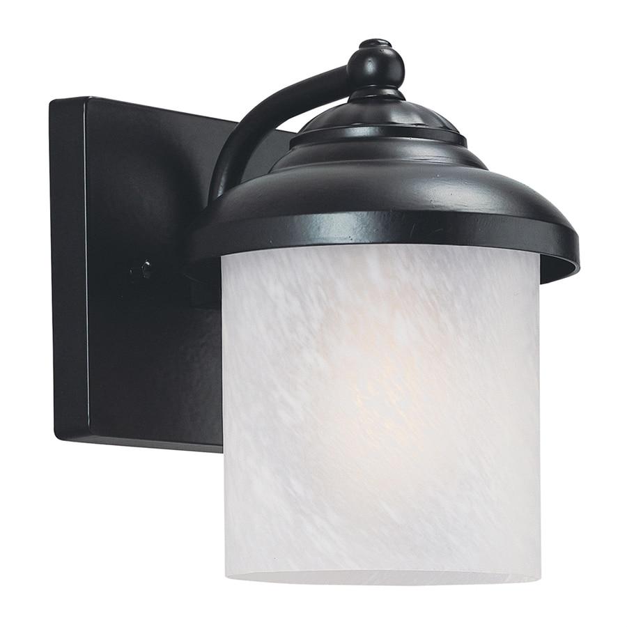 Sea Gull Lighting Yorktown 8.25-in H Black Outdoor Wall Light ENERGY STAR