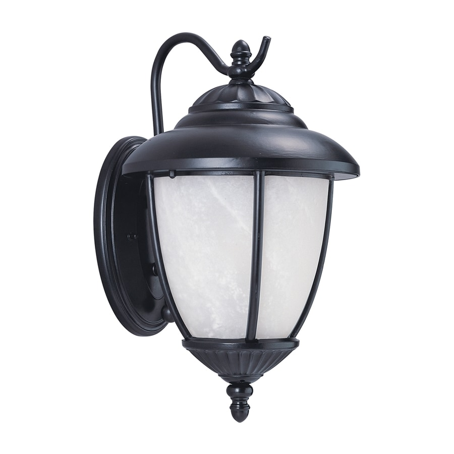 Sea Gull Lighting Yorktown 16.25-in H Black Outdoor Wall Light ENERGY STAR