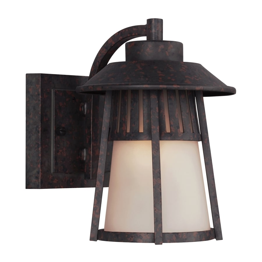 Sea Gull Lighting Hamilton Heights 8-in H Oxford Bronze Outdoor Wall Light ENERGY STAR