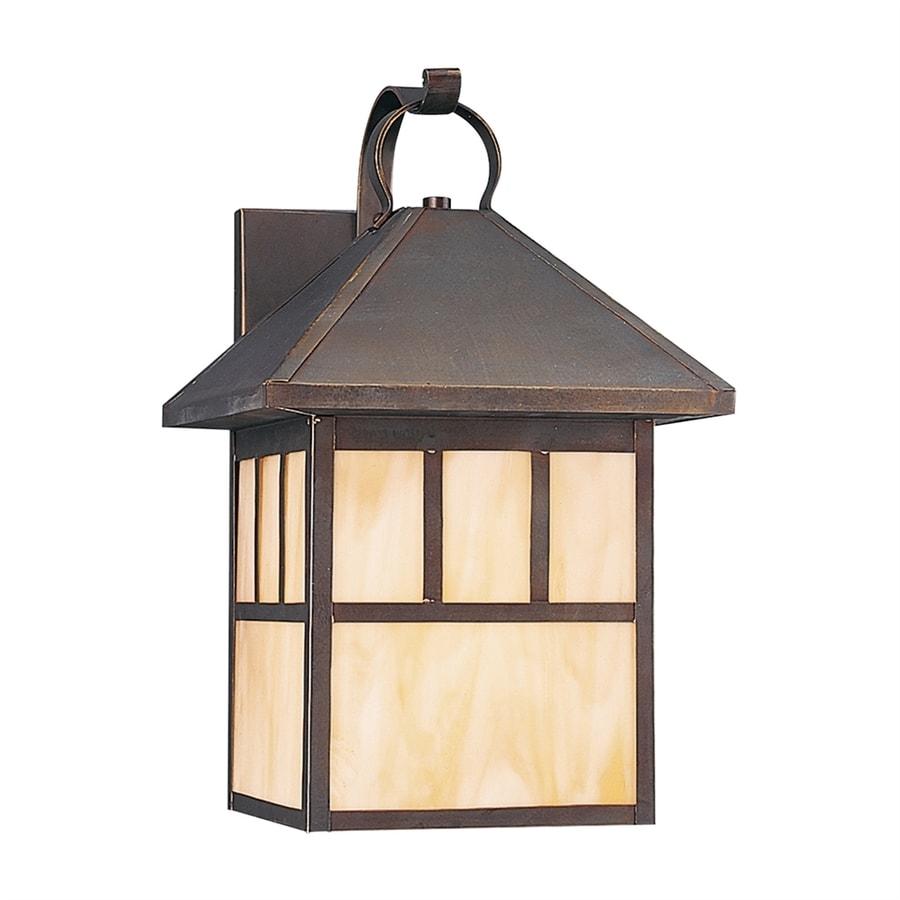 Sea Gull Lighting Prairie Statement 16.5-in H Antique Bronze Outdoor Wall Light ENERGY STAR