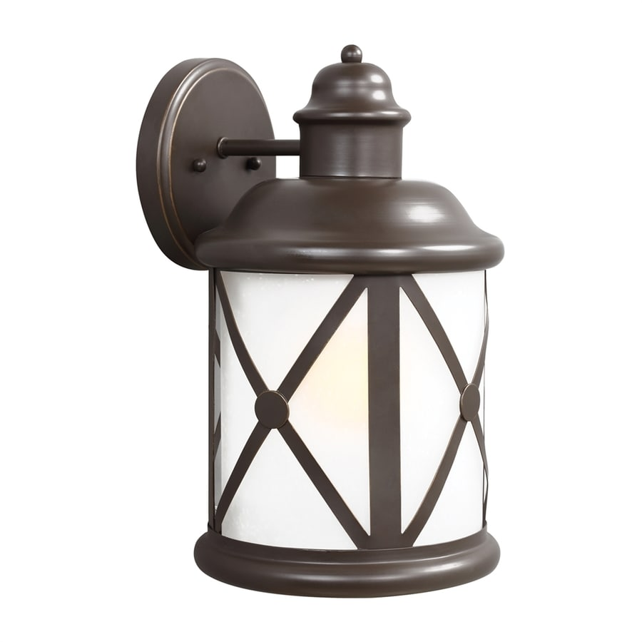 Sea Gull Lighting Lakeview 14-in H Antique Bronze Outdoor Wall Light ENERGY STAR