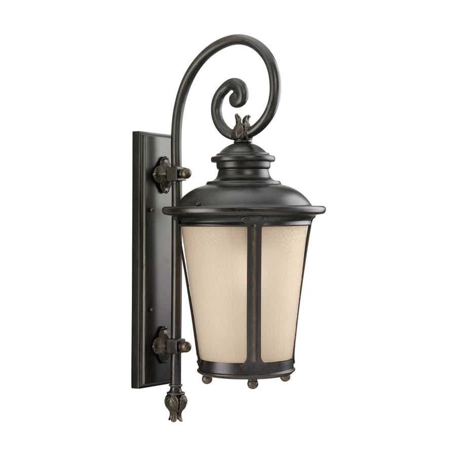 Sea Gull Lighting Cape May 26.5-in H Burled Iron Outdoor Wall Light ENERGY STAR