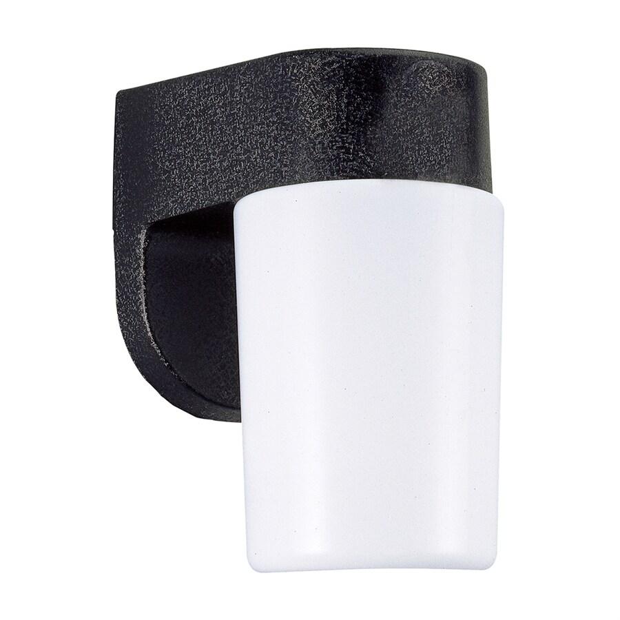 Sea Gull Lighting 7.5-in H Black Outdoor Wall Light ENERGY STAR