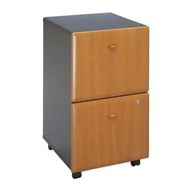 Beau Bush Business Furniture Series A Natural Cherry/Slate 2 Drawer Mobile File  Cabinet