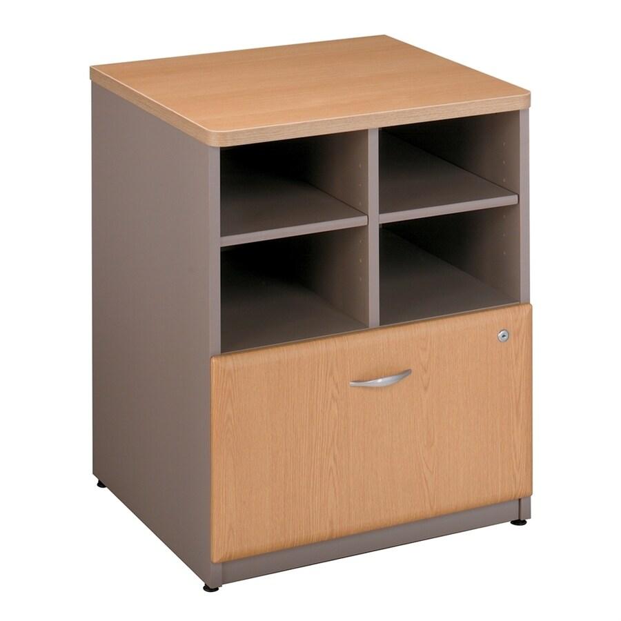 Bush Business Furniture Series A Light Oak/Sage Piler Filer Cabinet