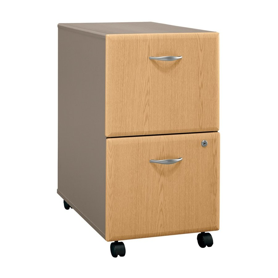 Bush Business Furniture Series A Light Oak/Sage 2-Drawer Mobile File Cabinet