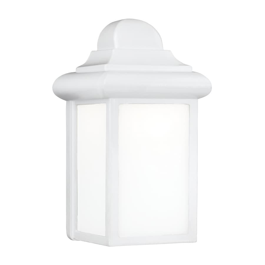 Sea Gull Lighting Mullberry Hill 8.75-in H White Outdoor Wall Light ENERGY STAR