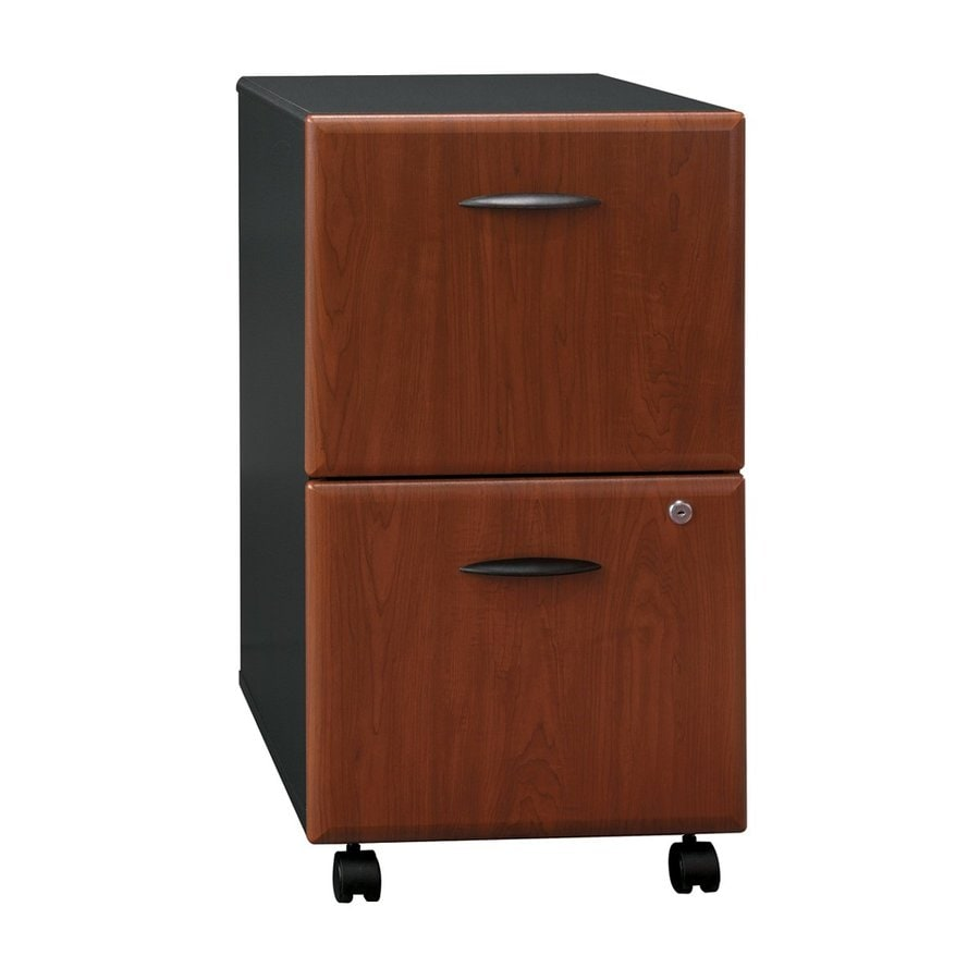 Bush Business Furniture Series A Hansen Cherry/Galaxy 2-Drawer Mobile File Cabinet