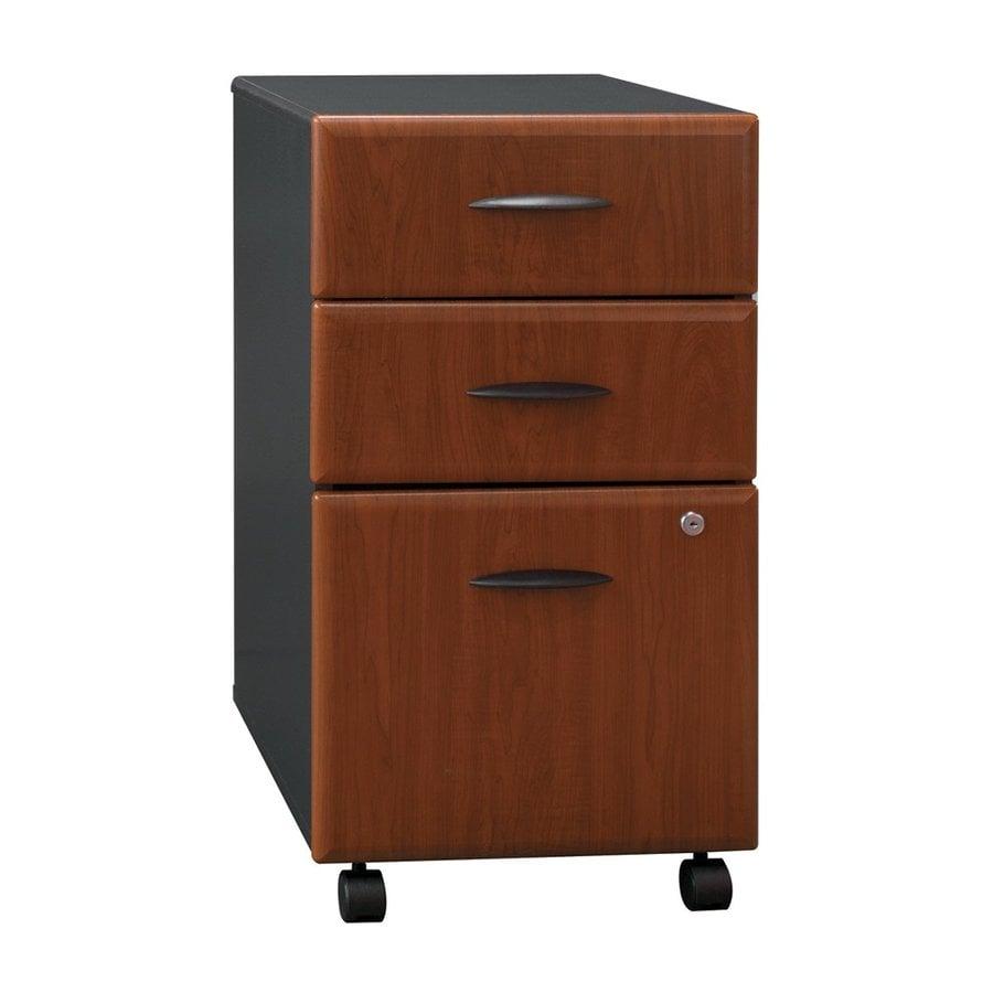 Bush Business Furniture Series A Hansen Cherry/Galaxy 3 Drawer Mobile File  Cabinet