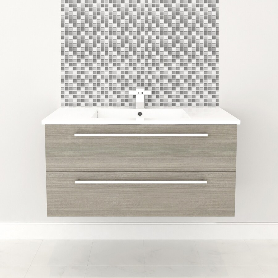 Cutler Kitchen U0026 Bath Silhouette Aria Integral Single Sink Bathroom Vanity  With Cultured Marble Top (