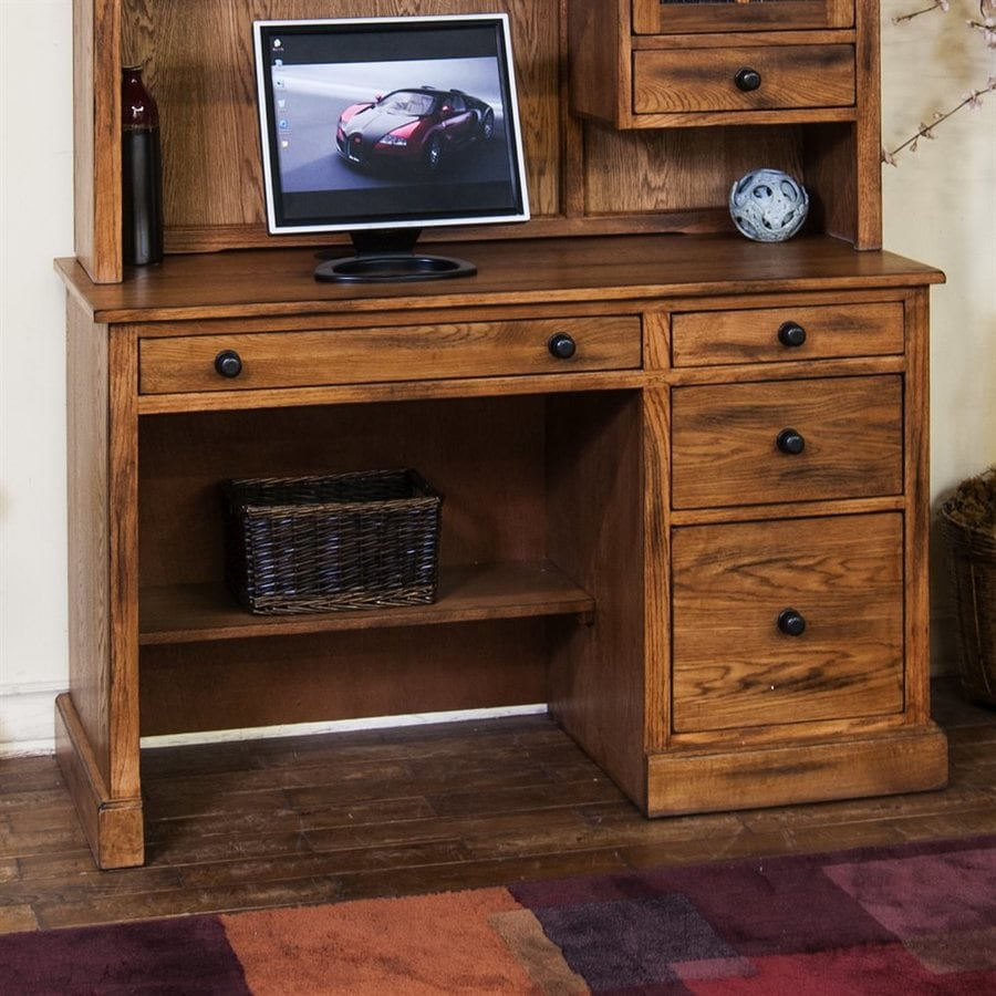 Sunny Designs Sedona Transitional Rustic Oak Secretary Desk