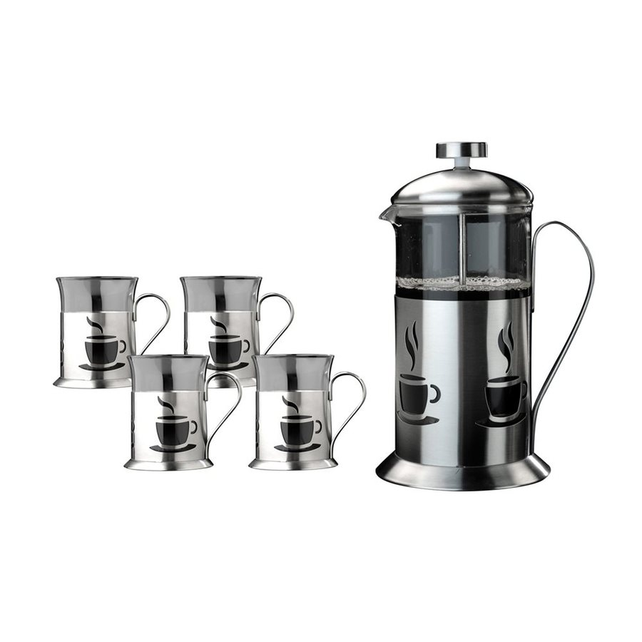 shop berghoff 4 cup stainless steel french press at. Black Bedroom Furniture Sets. Home Design Ideas