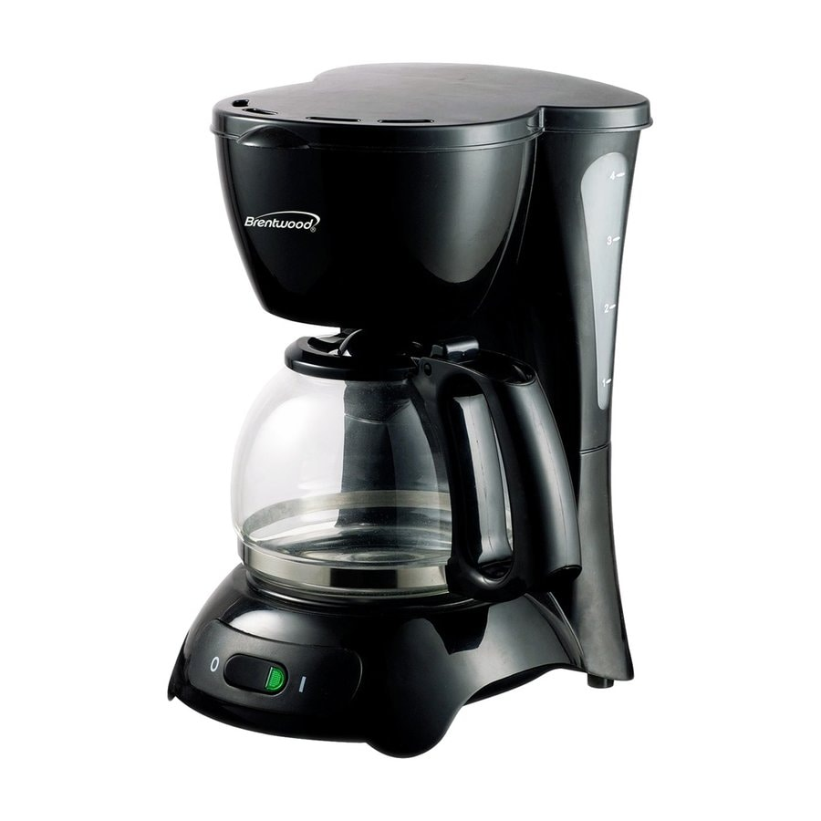Shop Brentwood Appliances 4-Cup Black Coffee Maker at Lowes.com