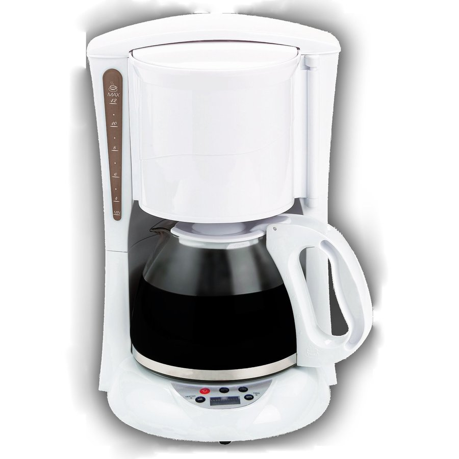 Brentwood Appliances 12-Cup White Programmable Coffee Maker