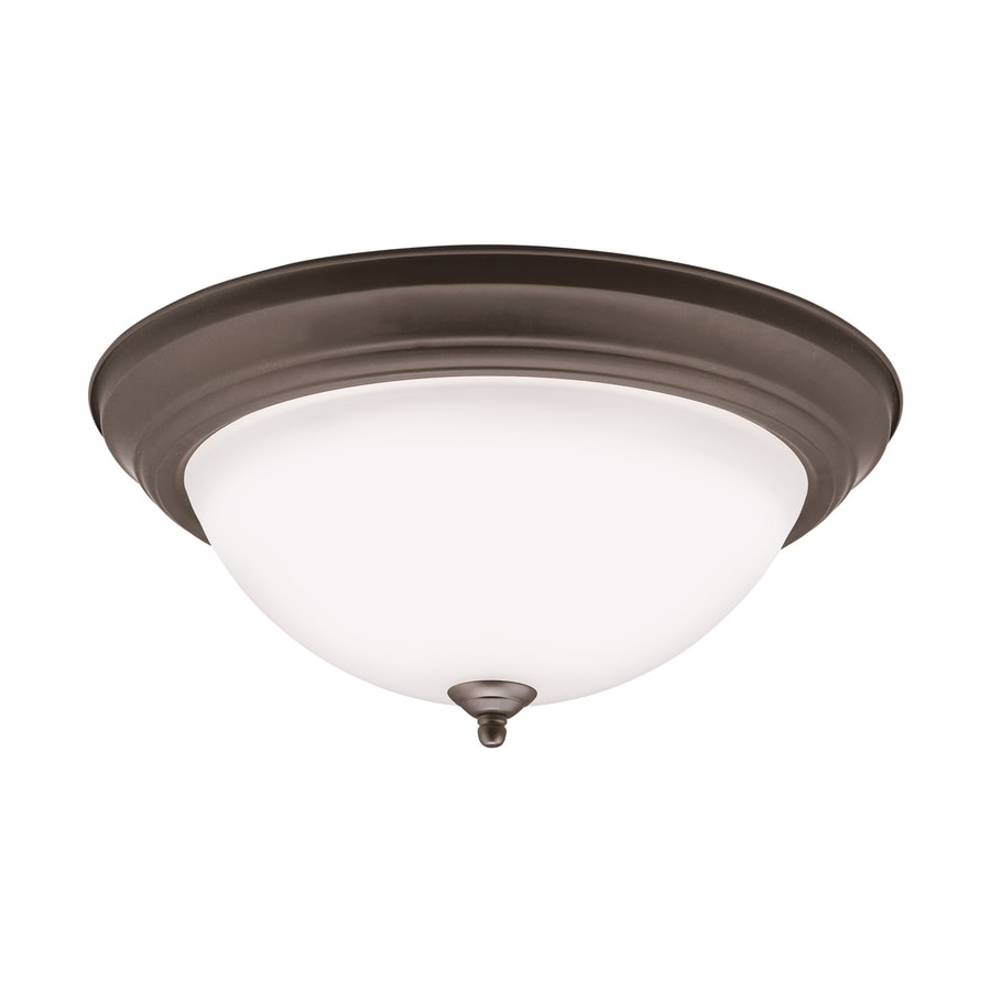 Kichler 15.25-in W Olde Bronze LED Flush Mount Light