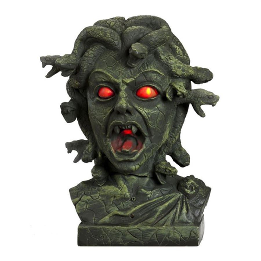 J. Marcus 11-in Medusa Bust with Light Up Eyes