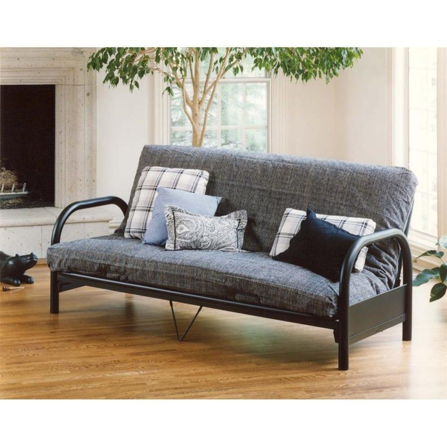 shop hillsdale furniture geneva black futon at lowes