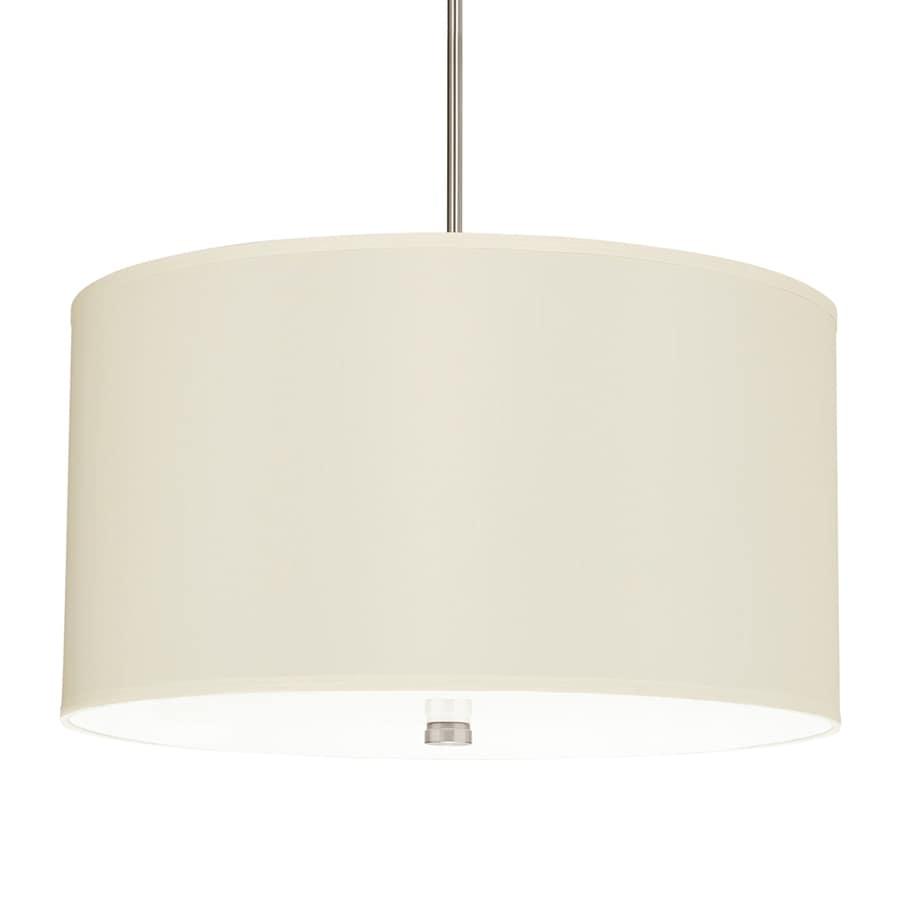 Sea Gull Lighting Dayna Shade Pendants 24-in Brushed Nickel Single Drum Pendant