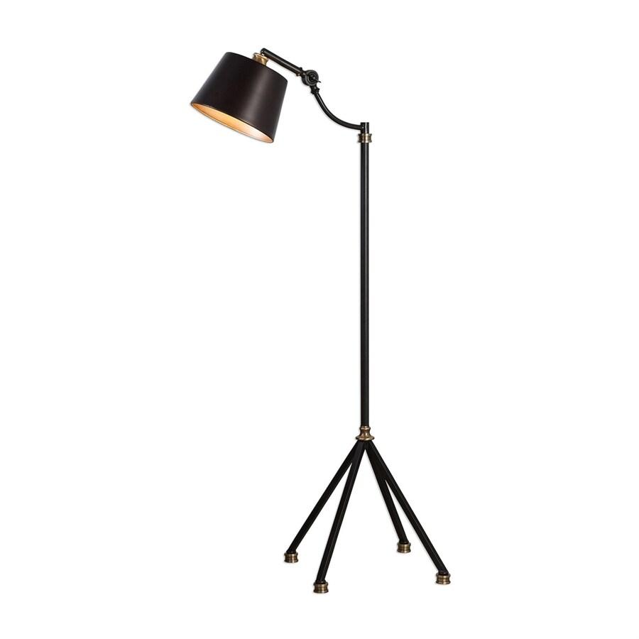 Global Direct Marias 43.5-in Black Floor Lamp with Metal Shade