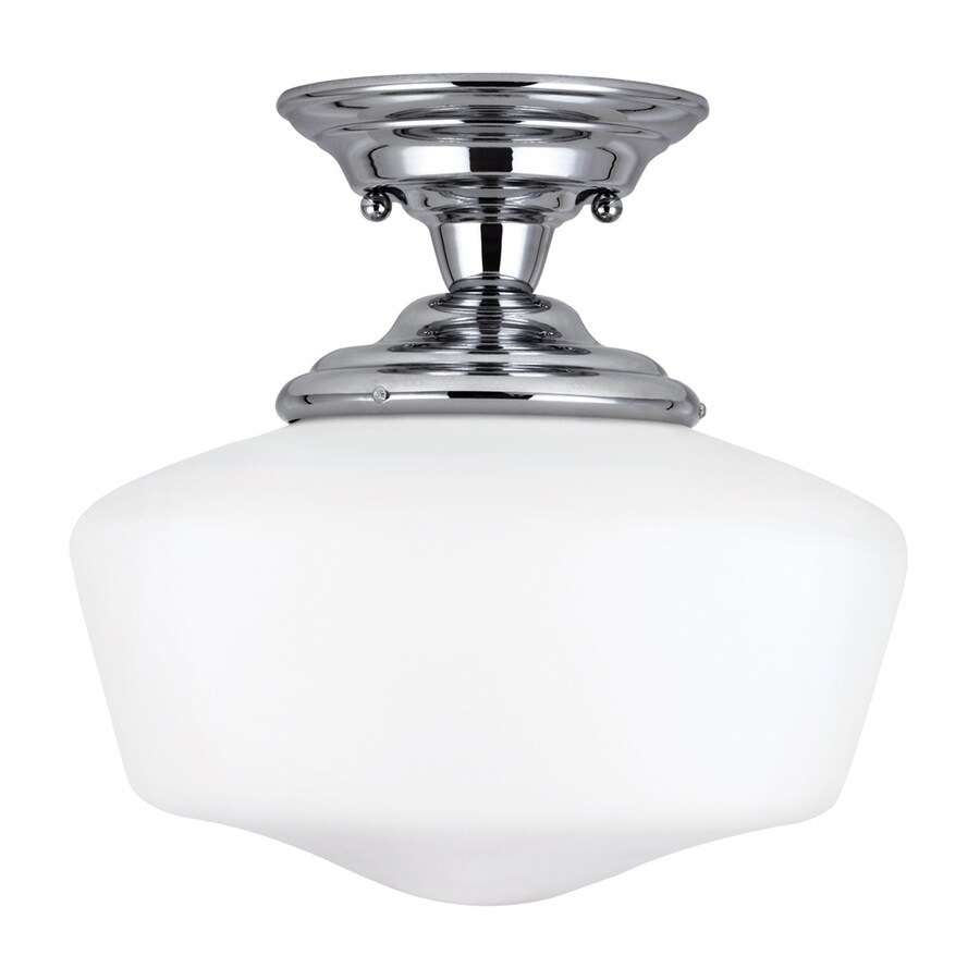 Sea Gull Lighting Academy 13-in W Chrome Semi-Flush Mount Light ENERGY STAR