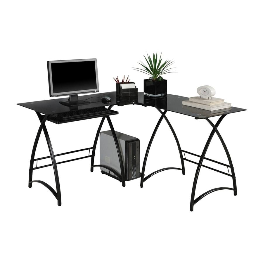 Shop Walker Edison Contemporary Black L Shaped Desk At