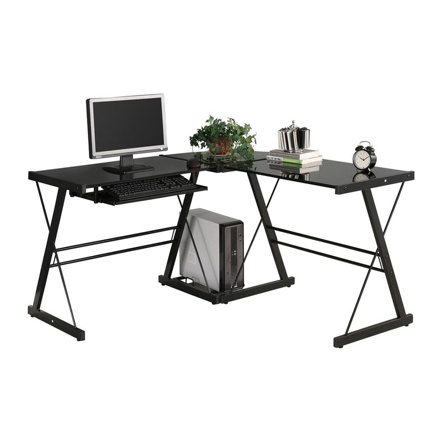 Delicieux Walker Edison Contemporary Black L Shaped Desk
