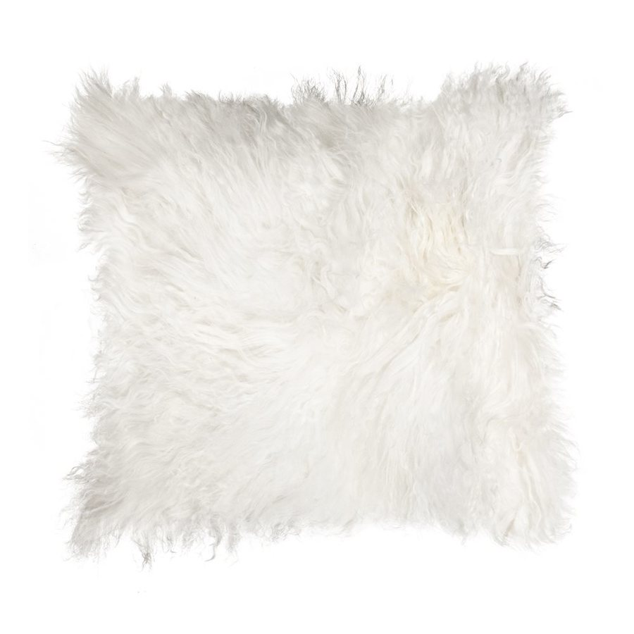 Natural by Lifestyle Mongolian Sheepskin 18-in x 18-in Pillow