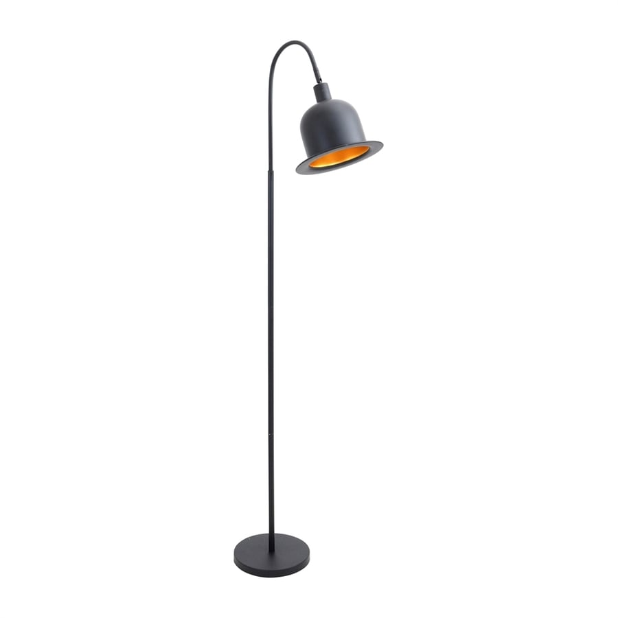 Lumisource Charlie 64 5 In Black Gold Foot Switch Arc Floor Lamp With Metal Shade